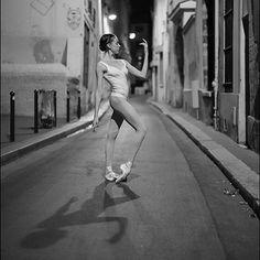 Ballerina Project in Paris: #Ballerina - @katieboren1 in #SaintMichel #RueSuger #Paris #Bodysuit & #hosiery by @wolfordfashion #Wolford #WolfordBodywear #WolfordTights #ballerinaproject_ #ballerinaproject #ballet #dance