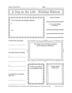 Adventures in Guided Journaling: A New Journal Page - Holiday Edition