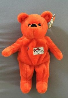 1374366b04e JOHN-ELWAY-7-Broncos-1999-Salvino-Bammers-NWT-plush-beanie-BEAR-NFL-licensed