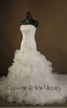 abito da sposa V5503-organza and rhinestones wedding dress ball Gown style V5503