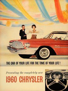 Chrysler 1960 - Mad Men Art: The Vintage Advertisement Art Collection Pub Vintage, Vintage Trucks, Funny Vintage, Poster Vintage, Classic Chevy Trucks, Classic Cars, Mopar, Dodge, Chrysler Cars