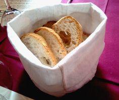 cestino per il pane, in stoffa