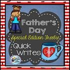 Father's Day First Grade Writing Second Grade Writing Quick Writes   We use these as weekly quick writes for morning work.  After we spend some tim...