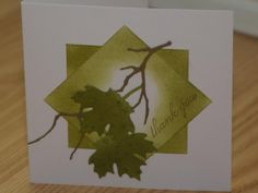 Nature Thanks by mayodino - Cards and Paper Crafts at Splitcoaststampers