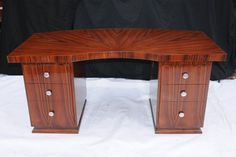 Art Deco Pedestal Desk Writing Table 1920s Furniture