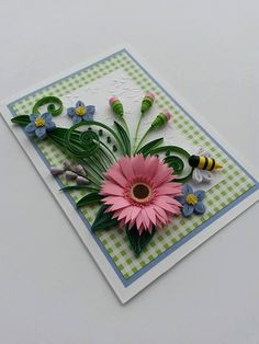 Quilling Birthday Card Mom Birthday Card Handmade by Gericards
