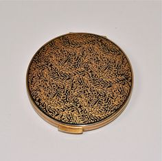 Vintage Stratton Compact Black and Gold England