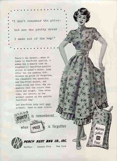 1949 Ken-Print Flour and Feed sack dresses
