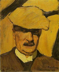 Albin Egger-Lienz, Self-Portrait, 1923 by kraftgenie, via Flickr