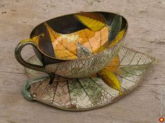 Leaf Cup and Saucer – Anya Stassenko and Glory Leontiev