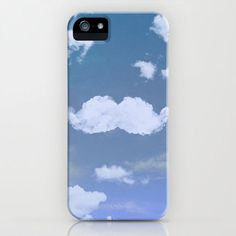 ★Society6★IPhone Case ケース ヒゲ雲 byGirlyTrend