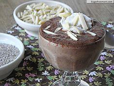 Chocolate Chia Almond Pudding [dairy & sugar free] 90 calories