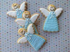 Anjos, batizado, cookies, biscoitos decorados | by Cookie Design