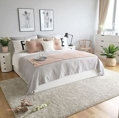 Grey Pink Rose Gold Bedroom I Like The Greenary In 2019 Bedroom Design Ideas In. Grey Pink Rose Gold Bedroom I Like The Greenary In 2019 Bedroom Design Ideas Inspiration Target A Dream Rooms, Dream Bedroom, Mansion Bedroom, Trendy Bedroom, Grown Up Bedroom, Modern Bedroom, Bedroom Simple, Contemporary Bedroom, New Room