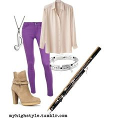 repinning mostly b/c i played the bassoon in school.  the boots are cute, too.