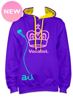 Original vocalist hoodie, designed by Iriann Joyce for Advection Wear, this signature hoodie from the Advection First Lady is a comfortable premium heavyweight hoodie for any occasion, available in purple or white. Yours for £40! With Free Shipping in February