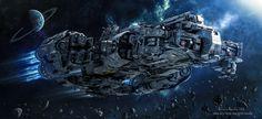 ArtStation - SciFi Support Frigate , Antonis Karidis