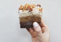 Raw Vegan Snickers Slice #lornajane