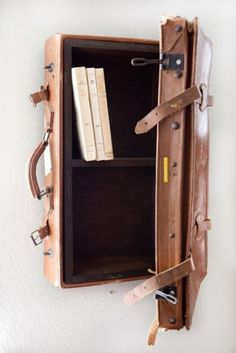suitcase bookshelves