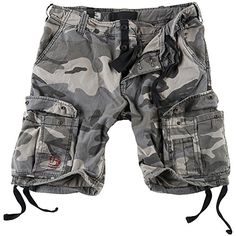 Surplus Mens Airborne Vintage Shorts Washed Night Camo size XXL *** You can find out more details at the link of the image.