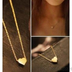 Cute Gold Heart shape Pendant Necklace just $9.90 only in ByGoods.com ($9.00) - Svpply