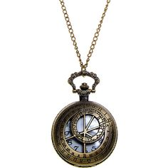 Steampunk Chronometrical Gauge Cutwork Fob Watch (Antique Gold) (12 AUD) ❤ liked on Polyvore featuring jewelry, watches, antique gold watches, steam punk watches, steampunk watches, steampunk wristwatch and steampunk jewelry