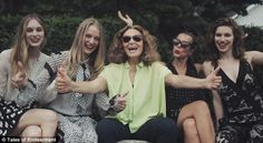 Diane von furstenberg and her friend's at her countryside home
