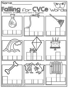 FREE CVCE Practice Sheets {Bossy e} {Silent e} {Magic e