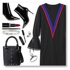 """""""Black dress"""" by simona-altobelli ❤ liked on Polyvore featuring Gianvito Rossi, Bobbi Brown Cosmetics, Smashbox, Gucci and Cartier"""