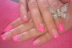 Pink with crystals