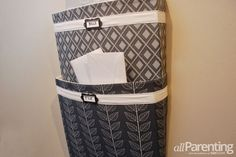 homemade wall hanging mail sorter... diy office organization