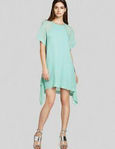 BCBG Max Azria Sharon Layered Silk Dress
