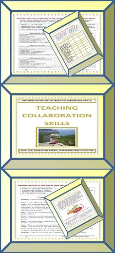 Do you teach collaboration skills, an essential 21st century skill? Includes a skit and rubric activity to teach collaborative skills in any content.  Use at the beginning of the school year to help students understand your expectations during cooperative learning assignments.  Activities can be scaffolded for 3rd and 4th graders and are appropriate as is for 5th, 6th, 7th, 8th, and 9th graders. Differentiated Activities and Student Choices.  Preview available.