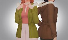 Although the coats included are practical, I wanted something cute and stylish so I tried to recr. The Sims 4 Pc, Sims Four, Sims 4 Mm Cc, My Sims, Sims 4 Seasons, Sims Packs, Play Sims 4, Sims4 Clothes, Maxis