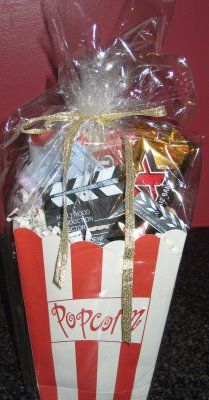 Fun little goodie bags for your guest to take home - or to eat during a movie or an awards show