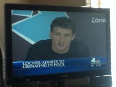 LOL keeping it classy lochte. Lochte admits he urinates in the Olympic pool.