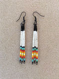 Traditional Native American style seed bead earrings by Beadcracka