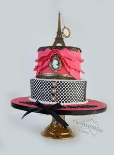 "Sweet 16 ""Paris"" cake - Cake by curiAUSSIEtycakes"