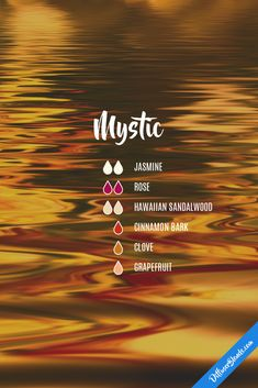 mystic eo blend : jasmine, rose, hawaiian sandalwood, cinnamon bark, clove, peppermint