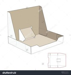 Stand Box Tray With Die-Cut Template Stock Vector Illustration 265258916 : Shutterstock