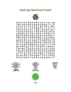 Earth Day Word Search Puzzle | Going Green | Pinterest | Word ...