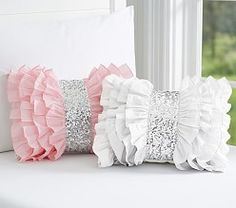 Find kids pillows in cute designs at Pottery Barn Kids. Shop kids throw pillows that will add style and personality to the playroom. Bow Pillows, Sewing Pillows, Cute Pillows, Kids Pillows, Throw Pillow, Kids Decor, Diy Home Decor, Boy Decor, Nursery Decor