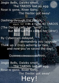Doctor Who Jingle Bells. X) I'm not sure how to take this...