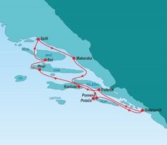 Southern Island Hopping from Split, Croatia.   Croatia Blue Island Hopping website