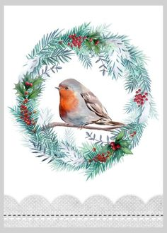 Victoria Nelson - Christmas Robin Wreath Copy