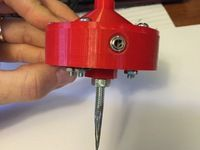 This is a touch probe for a CNC machine.  The probe consists of a set of 3D printed parts and some hardware available from McMaster Carr.  The 3D printed parts do not include threads for the fasteners so they will need to be tapped prior to assembly.  The stepped boss on the top of the probe is designed to fit into either a 1/4 or 1/2 inch collet for easy mounting on the CNC machine.   If you need some software to put your new probe to good use check out G-Code Ripper.  It will map an…