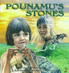 Pounamu is raised by her grandmother who shares her knowledge of weaving, food collection songs and stories. One day Pounamu's grandmother shares an even more special treasure, stones which have a magical power.
