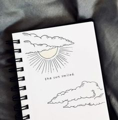 bullet journal drawing sketches drawings quotes quote sun clouds beginners doodle easy aesthetic pages simple sketch notebook cloud journaling creative