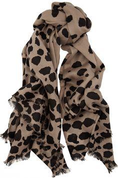 malene birger kashimo animal-print wool scarf