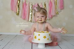 Twinkle Twinkle little star cake smash.  Ute-Christin Photography, Milford CT